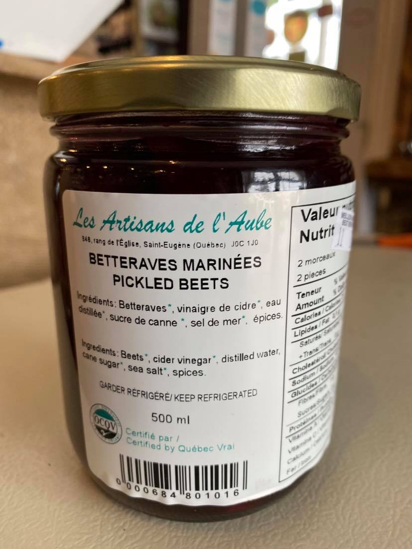 Betteraves marinées (500 ml)
