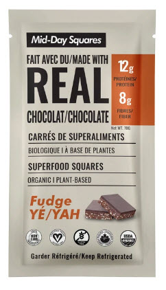 Carrés de superaliments Mid-Day - Fudge (12 g)